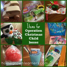 Items to Pack in an Operation Christmas Child Shoebox