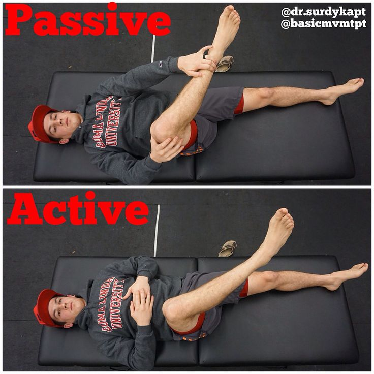 ACTIVE VS PASSIVE HIP EXTERNAL ROTATION . Here is a series of exercises (swipe left) that @dr.surdykapt and I put together that could possibly address the difference between my passive and active hip external rotation range of motion in supine. Isometric contractions performed at varying angles between the discrepancy can be effective for improving and strengthening his active range. . If youre looking for more ideas or information on the topic @dr.nicolept and @thestrengththerapist did a…