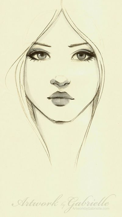 Beautiful Girl, just sketch / Bella Ragazza, semplice bozzetto, schizzo - Artwork by Gabrielle (Art by gabbyd70 on deviantART)