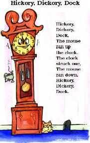 """Hickery, Dickery, Dock"". An Old English Nursery Rhyme"