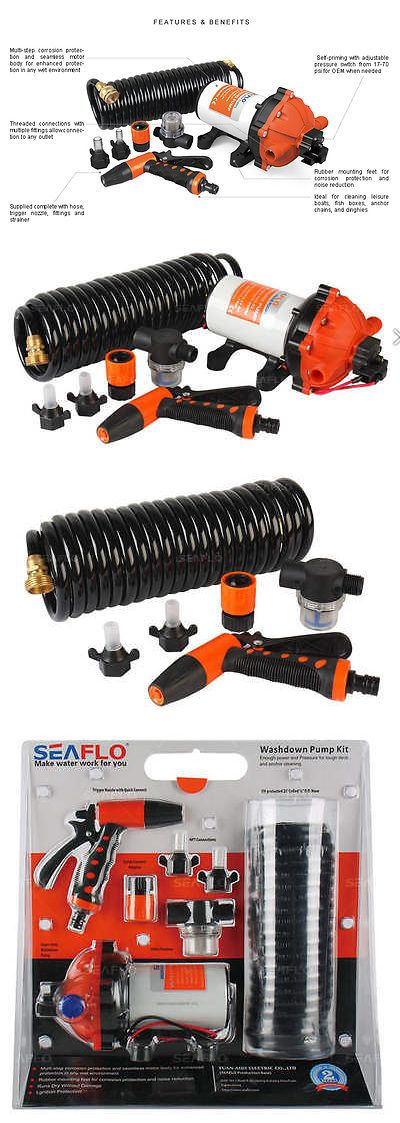 boat parts: Seaflo 12V 5.5 Gpm 70 Psi Washdown Deck Pump Kit Rv Boat Marine 4 Year Warranty! -> BUY IT NOW ONLY: $139.99 on eBay!