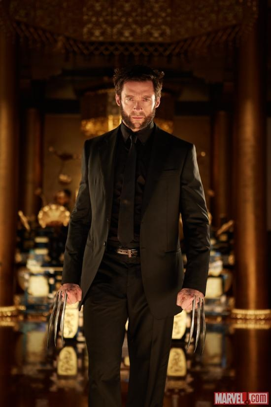 """Hugh Jackman's looking dapper in the latest photo from """"The Wolverine,"""" in theaters July 26! Plus, check out a new behind-the-scenes shot and get all the details here! What are you most looking forward to in """"The Wolverine""""? http://marvel.com/news/story/20048/the_wolverine_shows_off_his_suit_in_2_new_photos"""