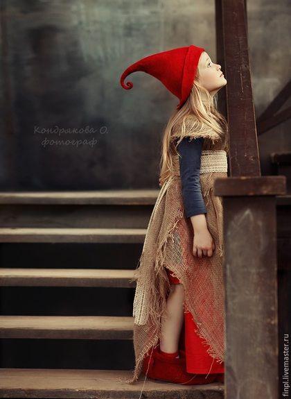 Felted hat / Шапки ручной работы. Ярмарка Мастеров - ручная работа. Купить Красная шапочка. Handmade. Ярко-красный, красная шапочка, Валяние