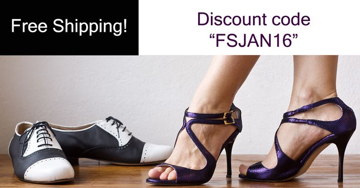"""Free Shipping everywhere for a week!!! Do not miss this fantastic opportunity to buy your favourite tango shoes made in Italy! Insert the discount code """"FSJAN16"""" during a purchase to get the free shipping! www.italiantangoshoes.com"""