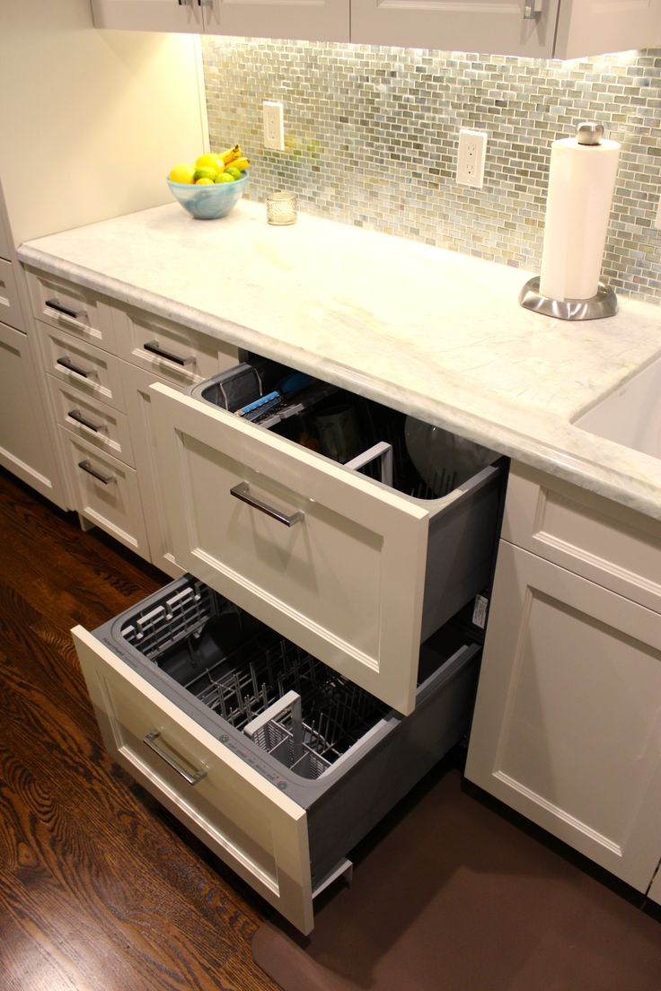 Best 25 drawer dishwasher ideas on pinterest 2 drawer dishwasher two drawer dishwasher and Handleless kitchen drawers design