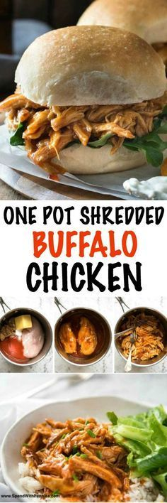 Dinner has never been easier than with this mouth watering One Pot Shredded Chicken in Buffalo Sauce! This tender and flavorful chicken recipe comes together in moments to create a meal your family will love!Quick, fabulous dinner made in one pot!