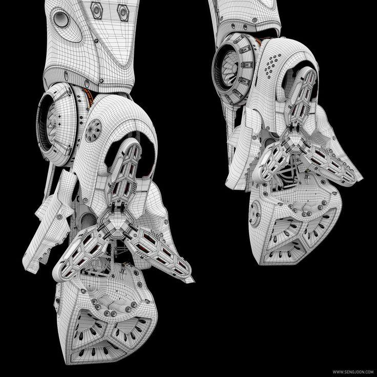 Artemis -Cybernetic Organism- by Sengjoon Song | Robotic/Cyborg | 3D | CGSociety