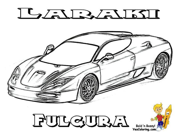Laraki Fulgura SuperCars Coloring Sheet  At YesColoring  http://www.yescoloring.com/super-fast-cars-coloring.html