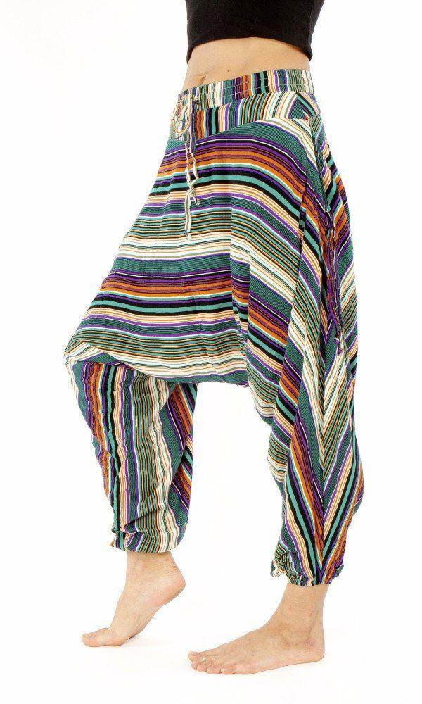 Green Stripes | kids Harem Pants