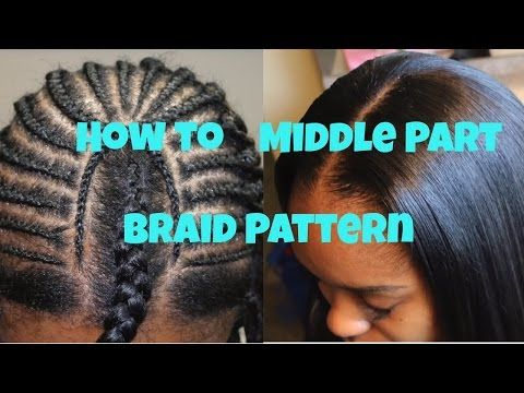Basic Full Weave Installation Intersecting Braid Pattern Part I Delectable Sew In Weave Braid Patterns