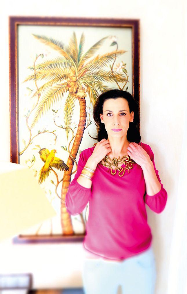 #Pinker Pulli und auffällige #Schlangen-Kette by Brigitte von Boch #bevonboch