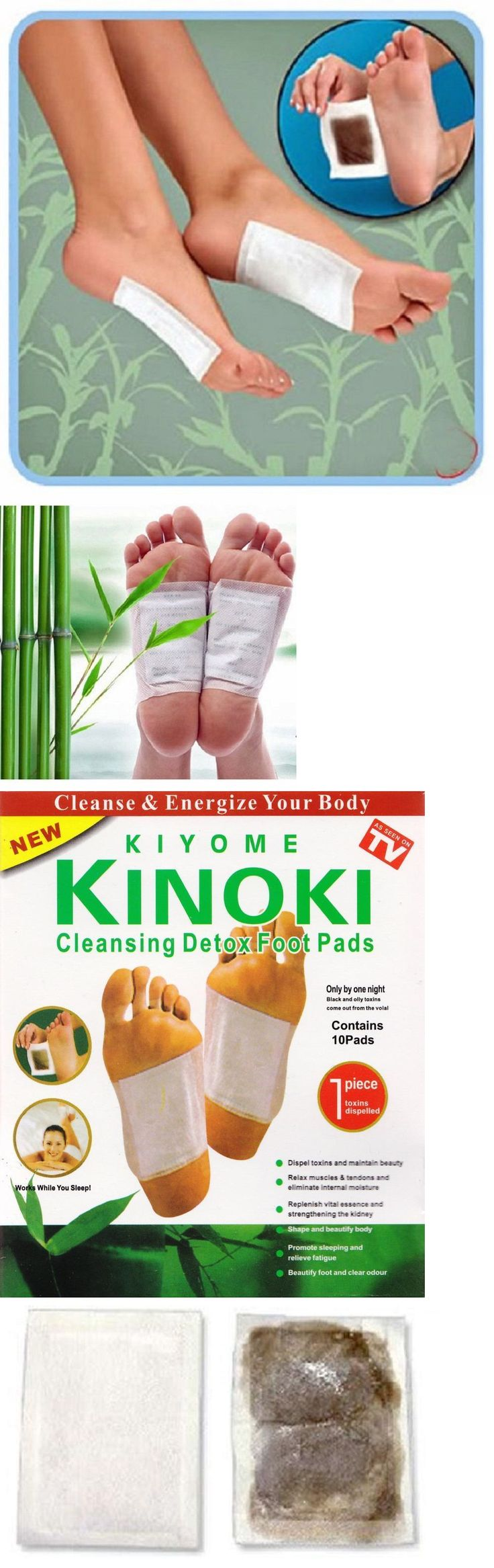 Detox Pads: Detox Foot Pads By Kinoki Kiyome For Cleansing Feet 10 Count Box As Seen On Tv -> BUY IT NOW ONLY: $38.29 on eBay!