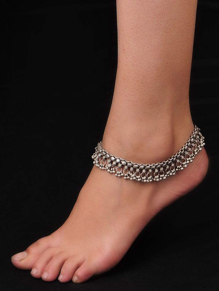 Buy Antique Silver Gypsy Anklets Set of 2 92.5% Sterling Jewelry Allure Tribal Online at Jaypore.com