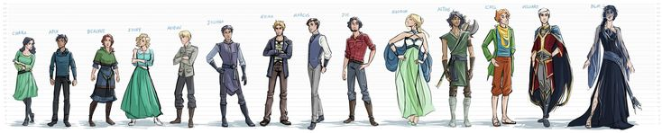 The Silver Eye - Characters Height Chart by lostie815.deviantart.com on @DeviantArt