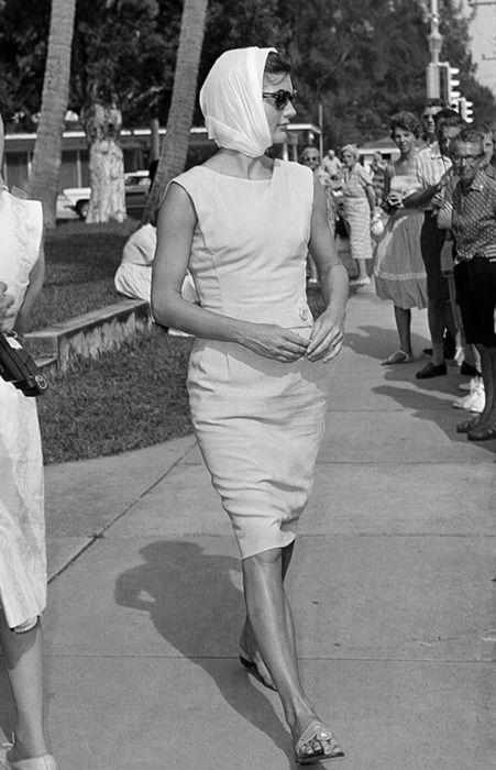 Jaqueline Kennedy leaving St. Edwards on Palm Beach.