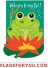 Applique - Frog Pad Garden Flag