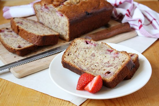 Strawberry Brown Butter Banana Bread