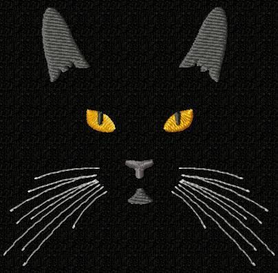 cat embroidery pattern-