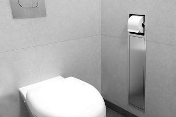 Encastrement WC- porte papier toilette et brosse toilette