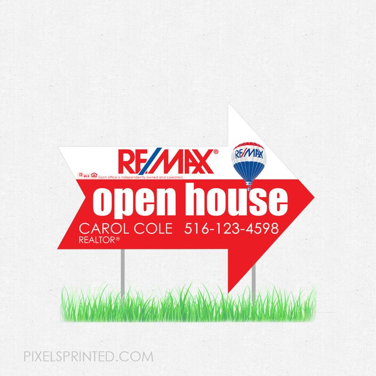 arrow shaped real estate yard signs, real estate lawn signs, realtor yard signs, realtor lawn signs, REMAX yard sign, REMAX lawn sign, arrow yard sign, arrow lawn sign
