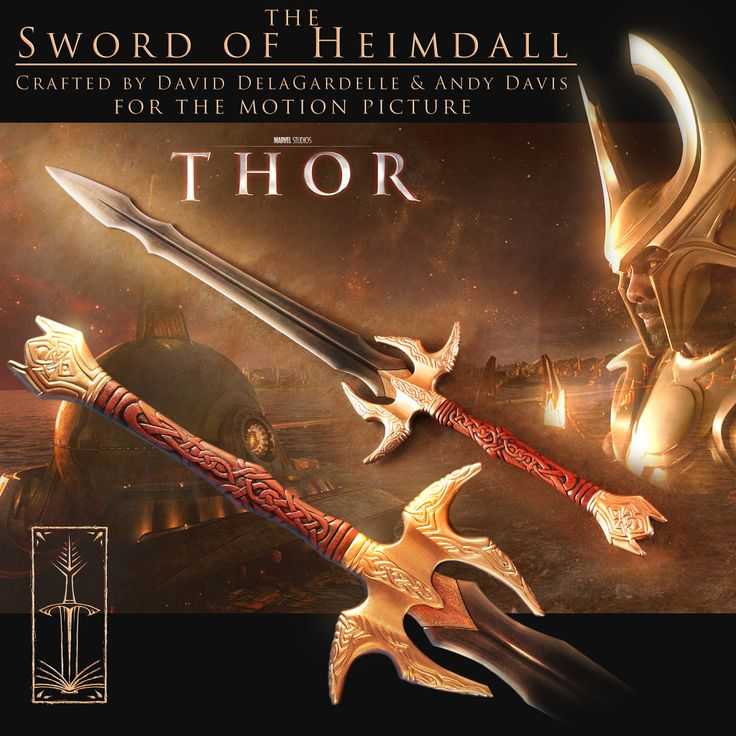A throwback to the sword I crafted for the 2011 Marvel Comics movie THOR. I crafted the stunt and hero weapons which were used on set while filming by actor Idris Elba.