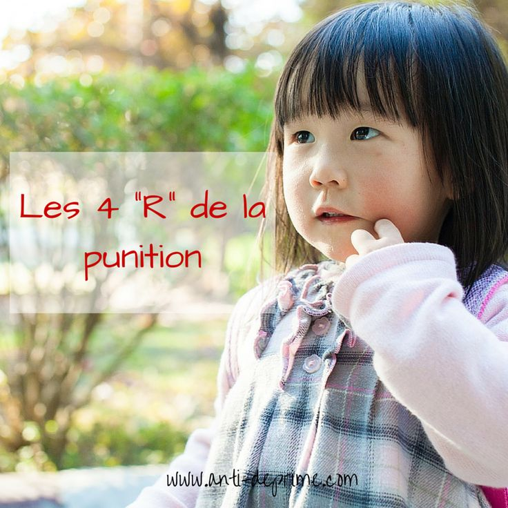"Discipline positive : Les 4 ""R"" de la punition"