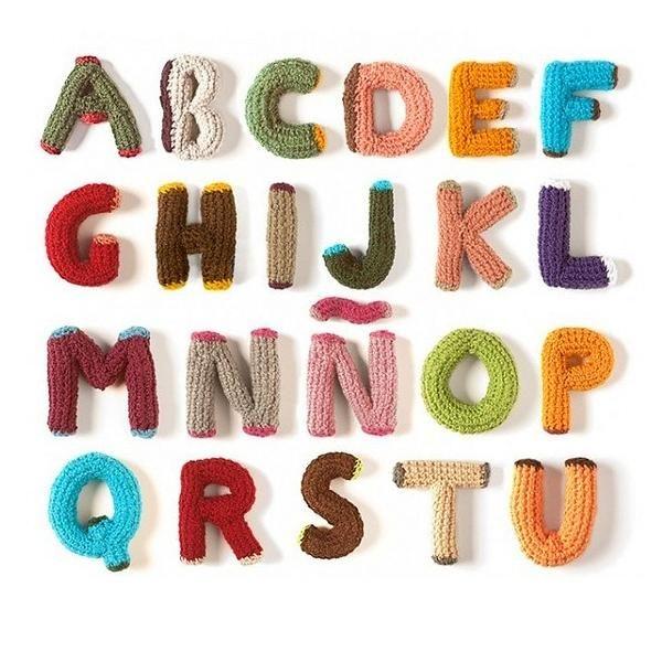 вязаный алфавит крючком схема описание
