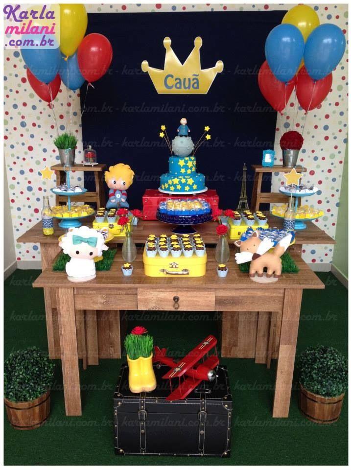 Festa Pequeno Príncipe. Decoração: Atelier Karla Milani Bolo e Cupcakes…