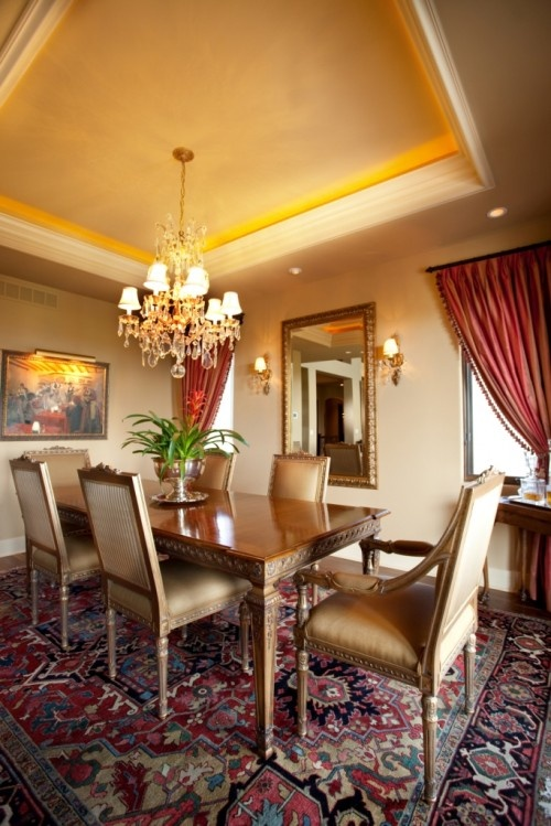 Dining Room Tray Ceiling Ideas Part - 27: More Formal Raised Trey Ceiling Idea For Dining Area
