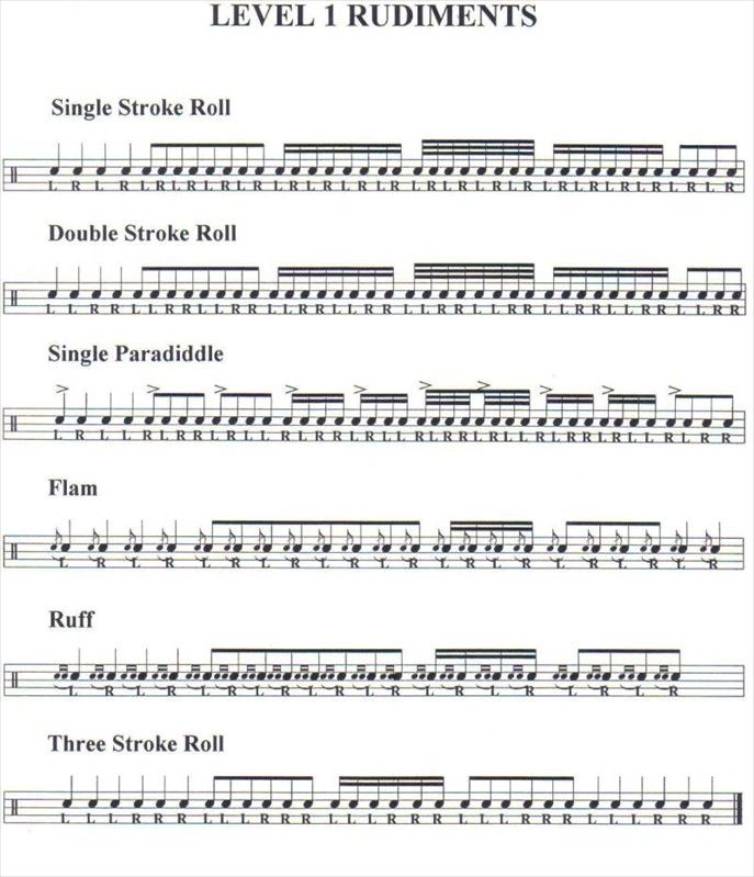 photograph regarding Printable Drum Rudiments known as √ The 25+ ideal Drum rudiments Designs upon Pinterest
