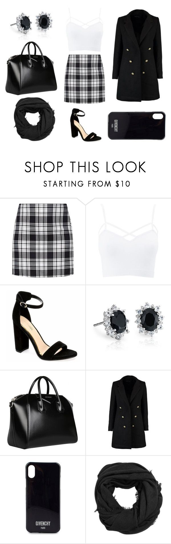 """""""Black Friday night girls night out"""" by liavictoria-ugarte ❤ liked on Polyvore featuring Charlotte Russe, Blue Nile, Givenchy, Boohoo, MANGO, blackandwhite, girlsnightout and plus size clothing"""