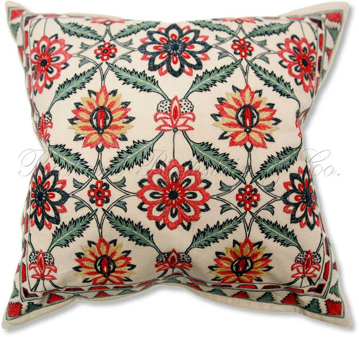 Needlepoint Pillow inspired by Morris