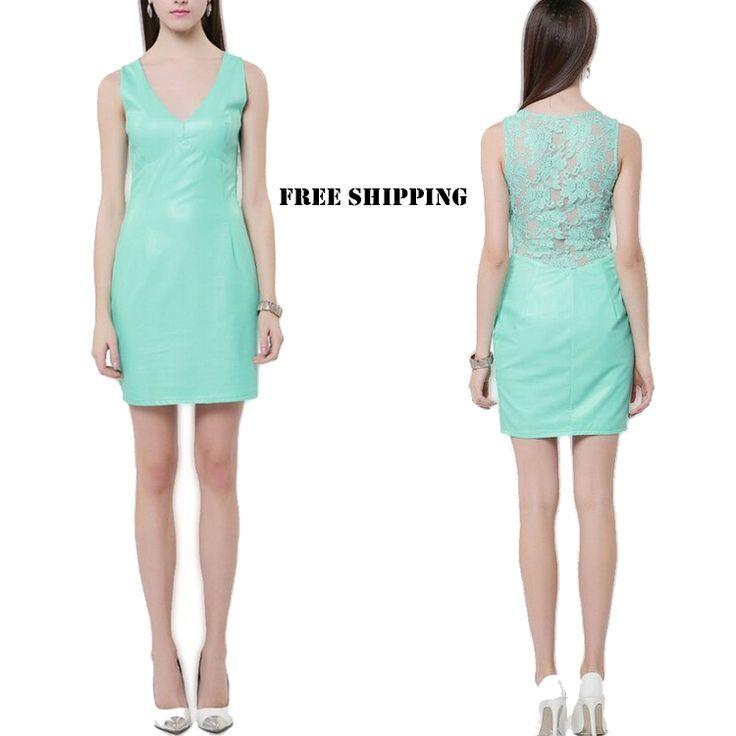 Tiffany Blue PU dress!