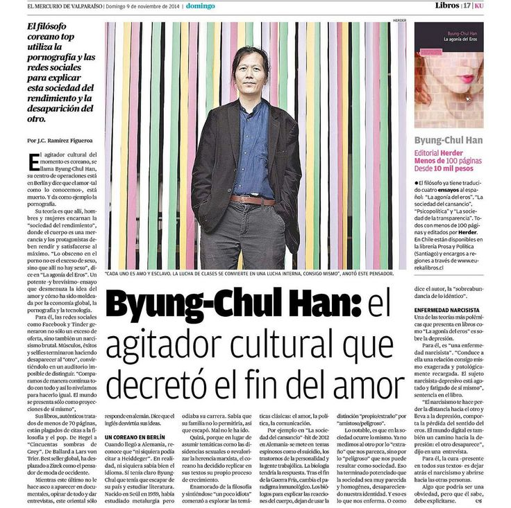 Byung-Chul Han: La sociedad de la Transparencia, Cansancio elocuente y Psicopolítica:  De lo viral-inmunológico a lo neuronal-estresante Dr. Adolfo Vásquez Rocca -