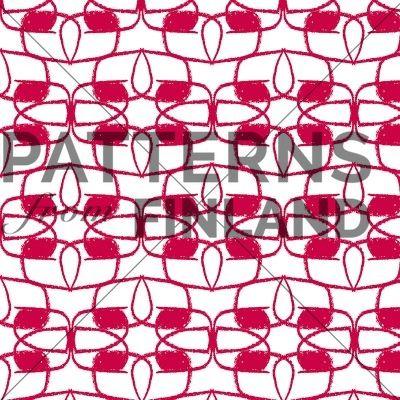 Punapaula by Sari Taipale   #patternsfromagency #patternsfromfinland #pattern #patterndesign #surfacedesign #saritaipale