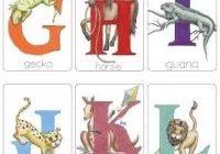 Moldes de letras com animais
