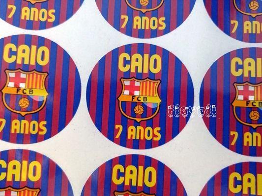 Etiquetas redondas 5cm FC Barcelona  :: flavoli.net - Papelaria Personalizada :: Contato: (21) 98-836-0113 - Também no WhatsApp! vendas@flavoli.net