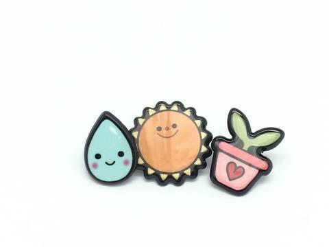 Heart Design Cute Pins #7