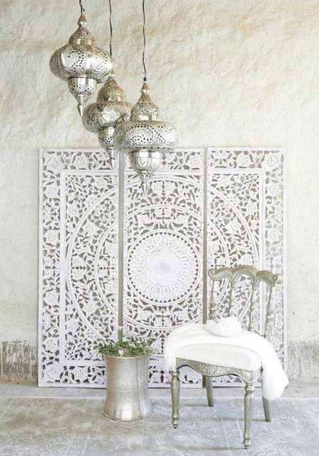 DIY Moroccan-Style Wall Stencil. Interior design, luxury furniture, home decor. More news at http://www.bocadolobo.com/en/news/