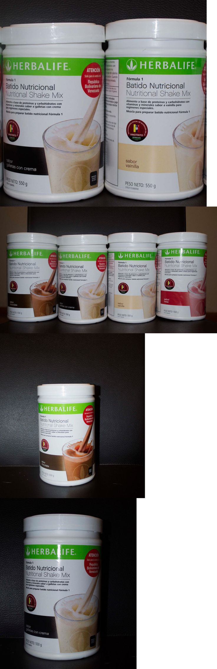 Meal Replacement Drinks: 2X Herbalife Formula 1 Nutritional Shake Cookies Strawberry Vanilla Chocolate -> BUY IT NOW ONLY: $44 on eBay!