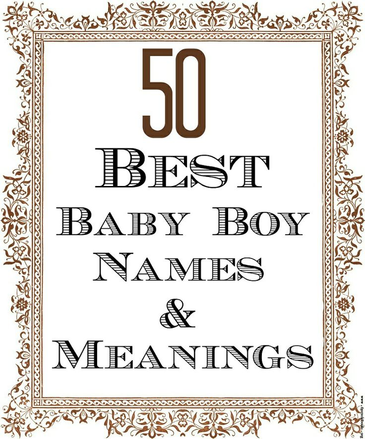 100 Sweet And Short Names For Boys With Meanings