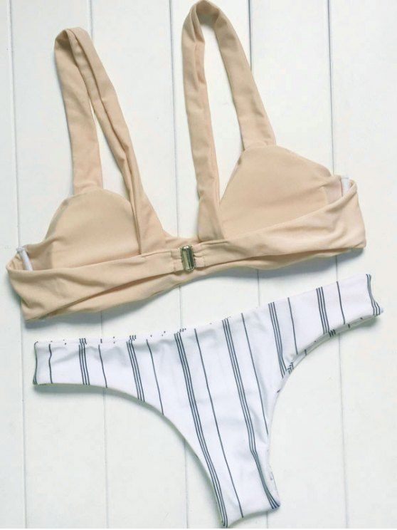 Tirantes delgados Conjunto rayado del bikini - Colormix L