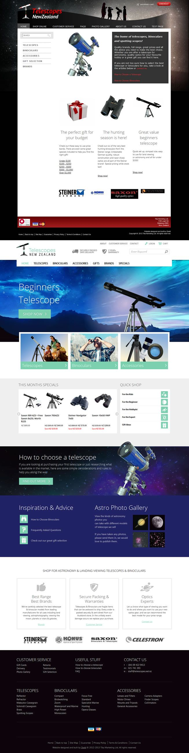 Telescopes Website Optimisation