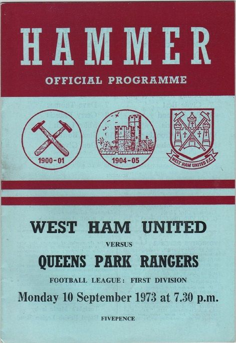 Vintage Football Programme - West Ham United v Queens Park Rangers, 1973/74 season, by DakotabooVintage, £3.99