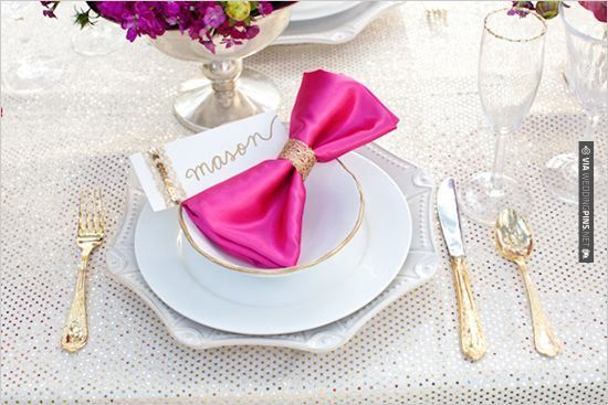 So cool! - gold and pink wedding decor   CHECK OUT MORE GREAT PINK WEDDING IDEAS AT WEDDINGPINS.NET   #weddings #wedding #pink #pinkwedding #thecolorpink #events #forweddings #ilovepink #purple #fire #bright #hot #love #romance #valentines #pinky
