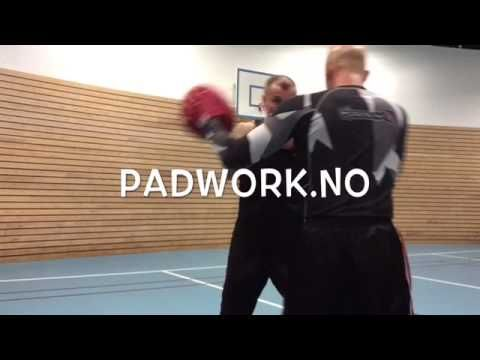 Coach Roger Mittology padwork mayweather style with Kickboxer Champion Arne Guddal - YouTube