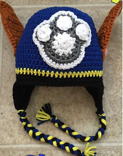 Paw Patrol Hat; Chase pattern by Emily's Crochet Chronicles