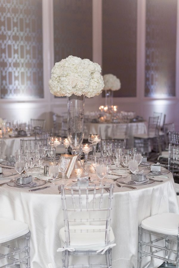 A Glamorous French Blue And White Wedding Silver Wedding
