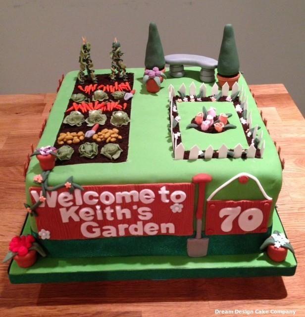 rose garden allotment celebration cake by dream design cake company ltd http