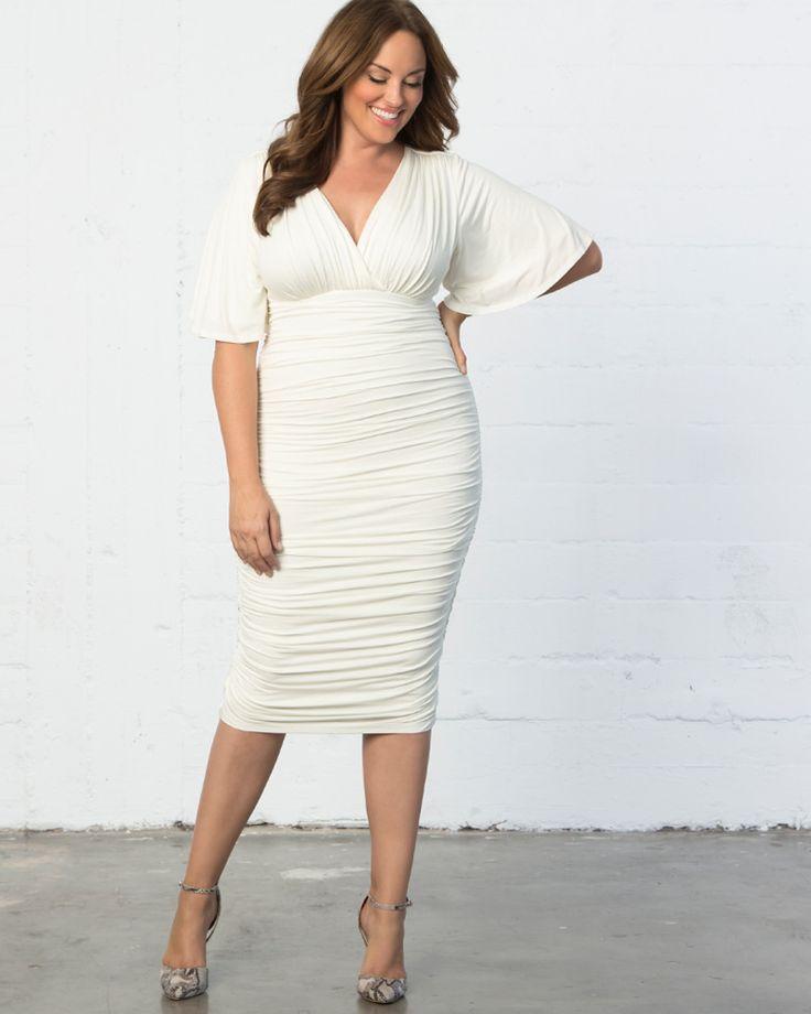 Kiyonna Womens Plus Size Paloma Ruched Dress 13